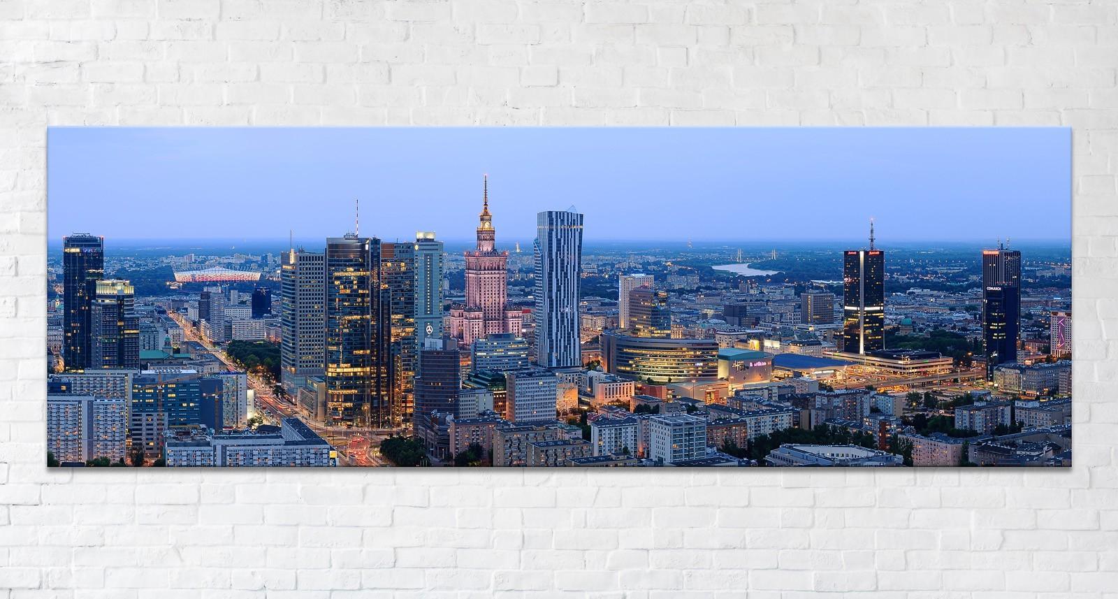 Niebieska Nowa Warszawa Fotoobraz
