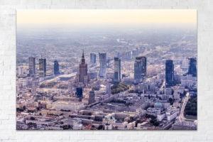 Centrum Warszawy z lotu ptaka Fotoobraz