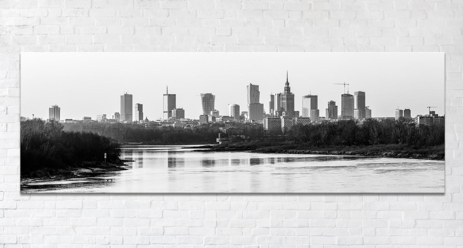 Jesienna Warszawa BW Fotoobraz