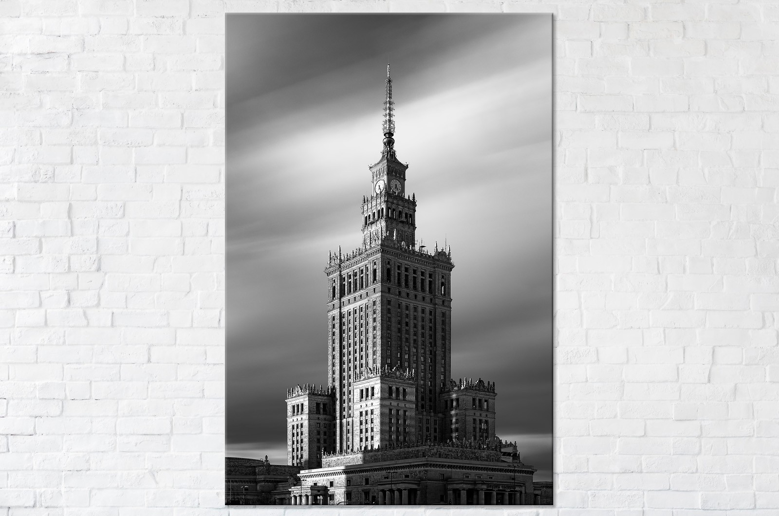 Monumentalny Pałac Kultury i Nauki BW Fotooobraz