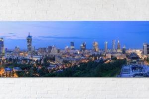 Niebieska Warszawa Fotoobraz