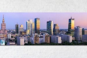 Nowoczesna Warszawa o zmierzchu Fotoobraz