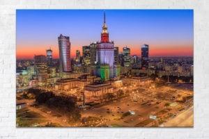 PKiN w barwach Legii Warszawa Fotoobraz