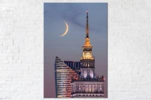 Pałac Kultury i Młody Księżyc Fotoobraz