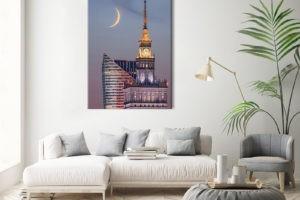 Pałac Kultury i Młody Księżyc Wydruk 1