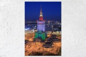 Pałac Kultury i Nauki w barwach Legii Warszawa Fotoobraz
