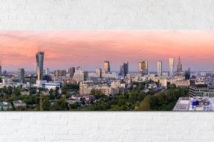 Różowa Warszawa Fotoobraz