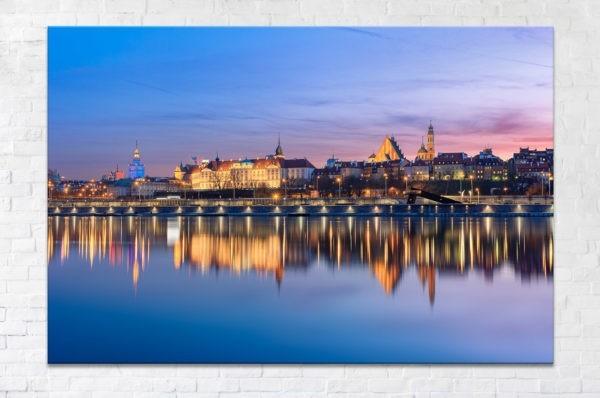 Stare Miasto po zachodzie Fotoobraz