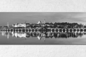 Stare Miasto po zmroku BW Fotoobraz