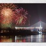 Fajerwerki nad Stadionem Narodowym Fotoobraz