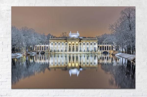 Pałac na Wodzie zimą Fotoobraz