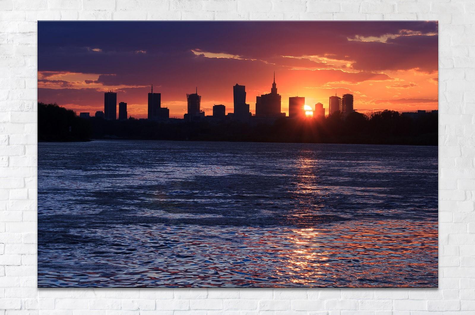 Sylwetka Warszawy Fotoobraz