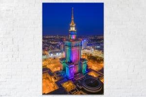 Tęczowy Pałac Kultury i Nauki Fotoobraz