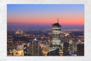 Warsaw Spire po zachodzie Fotoobraz