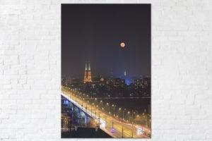 Wschód księżyca nad Katedrą Świętego Floriana Fotoobraz