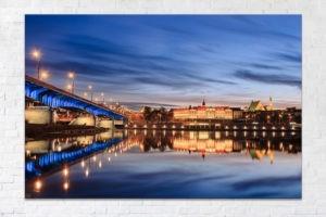 Zamek Królewski i most Śląsko-dąbrowski Fotoobraz