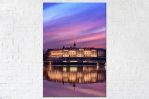 Zamek Królewski podczas kolorowego zachodu Fotoobraz