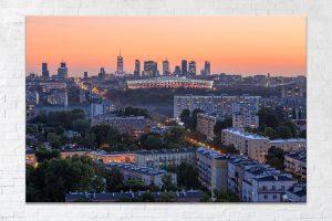 Centrum Warszawy nad blokami Pragi Fotoobraz