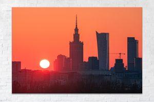Kontur Warszawy fotoobraz zdjęcia