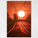 Warszawski tramwaj i kula słońca fotoobraz
