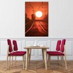 Warszawski tramwaj i kula słońca wydruk 2