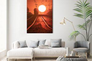 Warszawski tramwaj i kula słońca fotoobraz 1