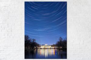 Pałac na Wodzie w gwiaździstą noc fotoobraz