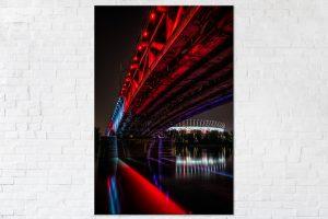 Podświetlony Most Średnicowy fotoobraz