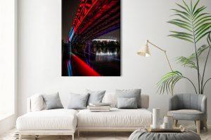Podświetlony Most Średnicowy fotoobraz 1