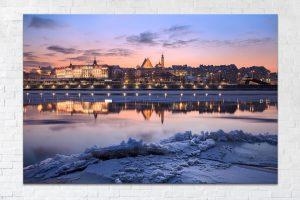 Stare miasto i Zamek Królewski zimą fotoobraz