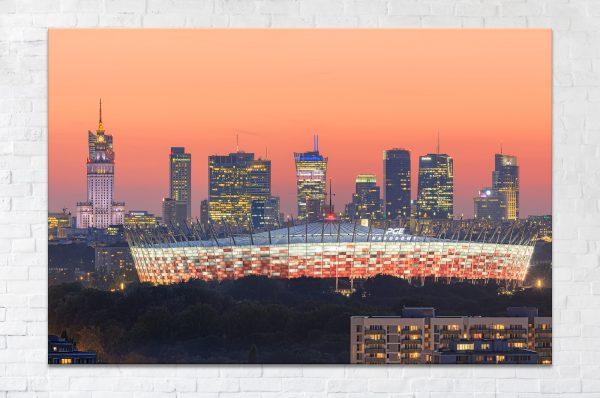 Wieżowce nad Stadionem Narodowym fotoobraz