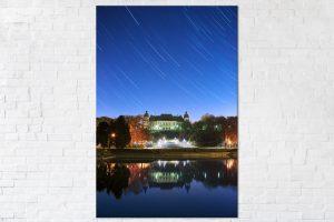 Zamek Ujazdowski pod rozgwieżdżonym niebem fotoobraz